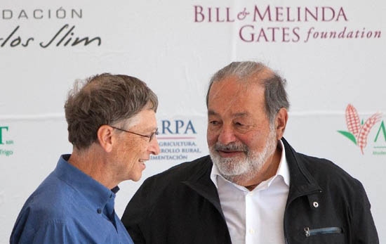 Bill Gates & Carlos Slim
