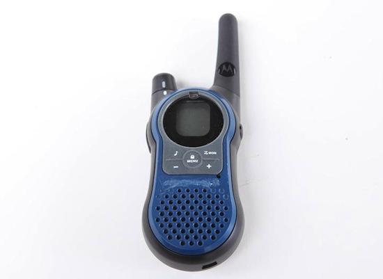 De walkie-talkie van Walt