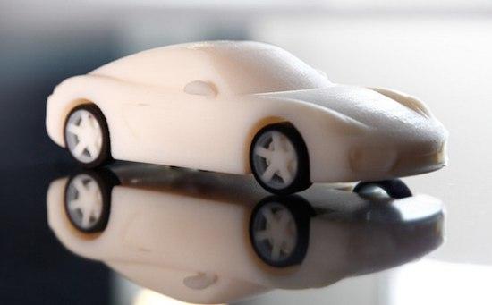 Porsche Cayman S vers van de printer