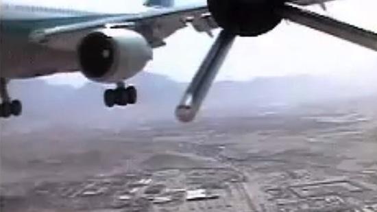 Geheime beelden: bijna-crash tussen vliegtuig en drone