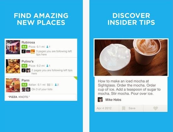 Foursquare voor iOS 7