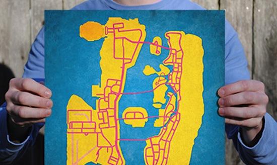 18 plattegronden van games als minimalistische kunst