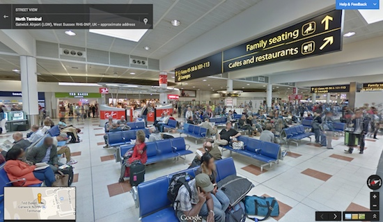 Gatwick Airport Google Streetview