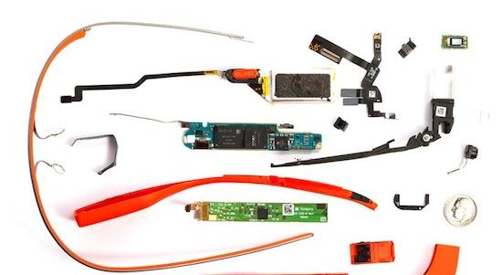 Zo ziet een Google Glass er in onderdelen uit