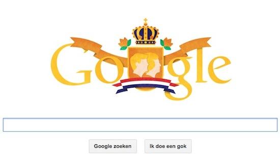 Google Doodle: Veel Geluk Koning Willem-Alexander!