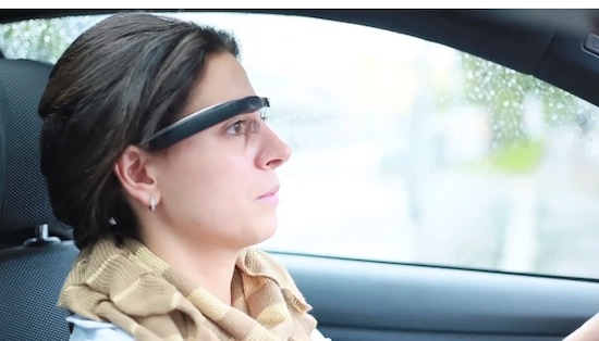 Google Glass in de auto
