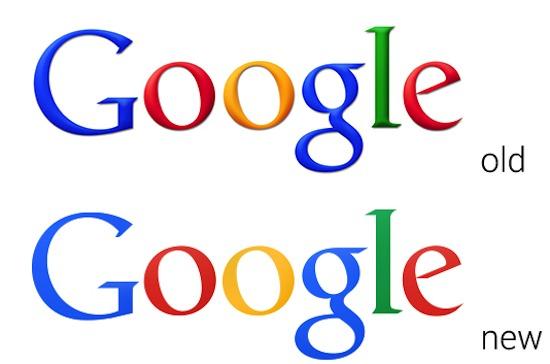 Google logo: old vs new