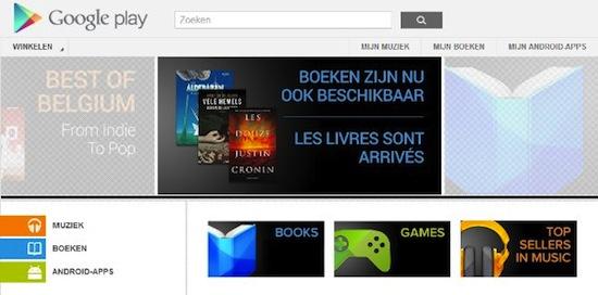 Google Play boeken Belgie