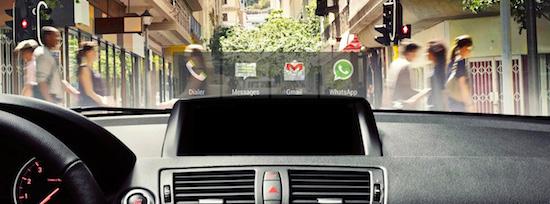 HeadsUP brengt telefoonberichten naar de voorruit