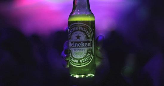 Lichtgevend bierflesje 2.0 van Heineken komt in 2014