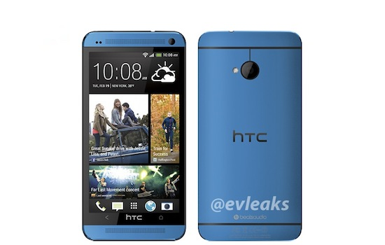 Blauwe HTC One