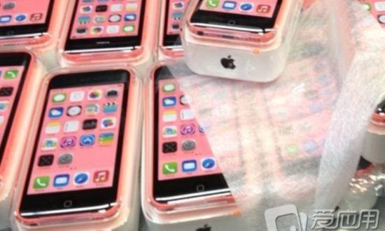 Roze iPhone 5C in verpakking