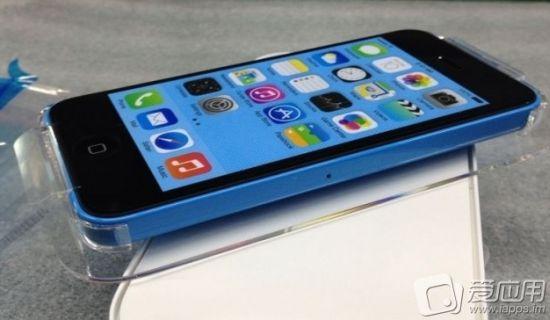 Blauwe iPhone 5C verpakking