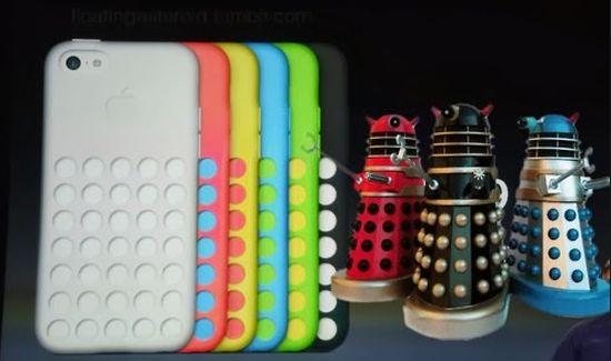 iPhone 5c Daleks