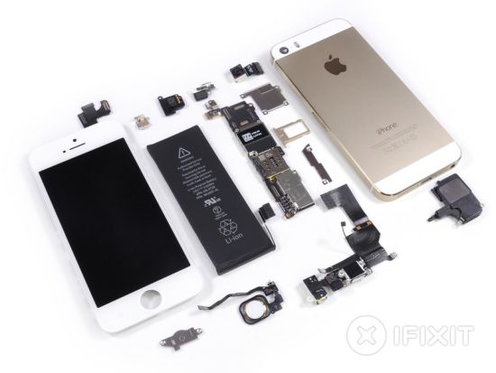 iPhone 5s teardown iFixit overzicht