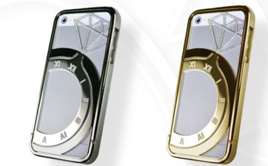 iPhone case Koku, zilver en goud