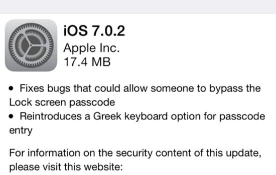 iOS 7.0.2 fixt bugs