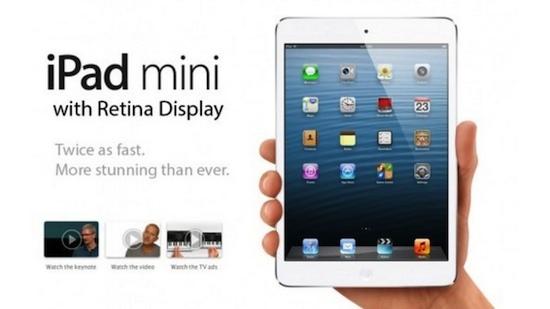 iPad Mini Retina vertraagd