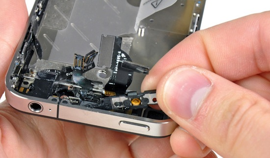 De power button in de iPhone 4