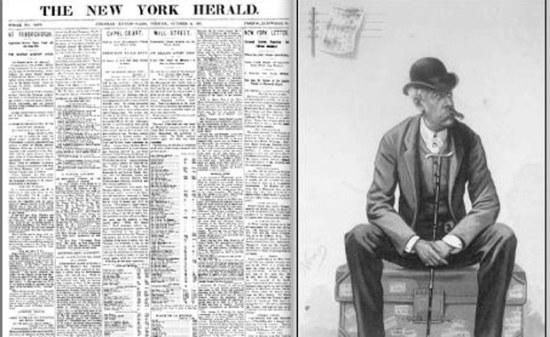 Een man en een krant