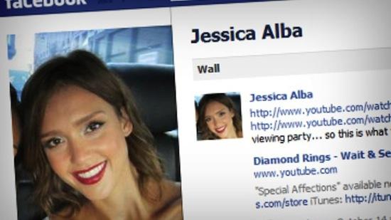 Jesicca Alba doet Facebook