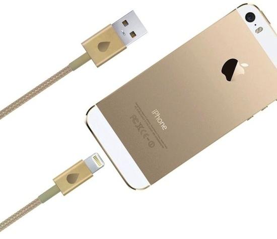 Onvermijdelijk: gouden oplaadkabel voor je gouden iPhone