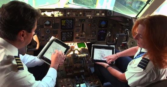 Willekeurige piloten met iPadswag