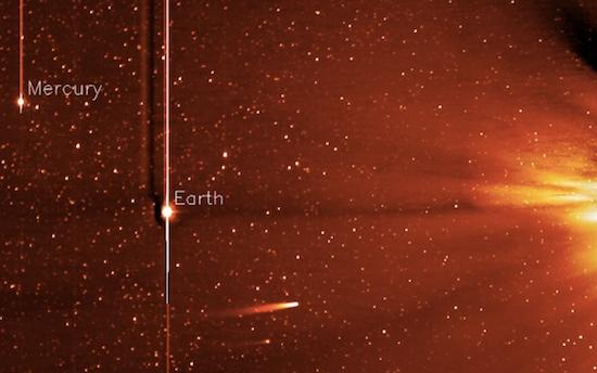 Komeet ISON zon