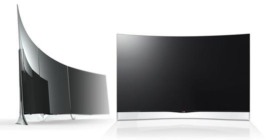 Curved OLED TV van LG
