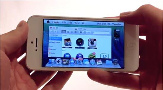 Mavericks Mini, inclusief werkende Finder