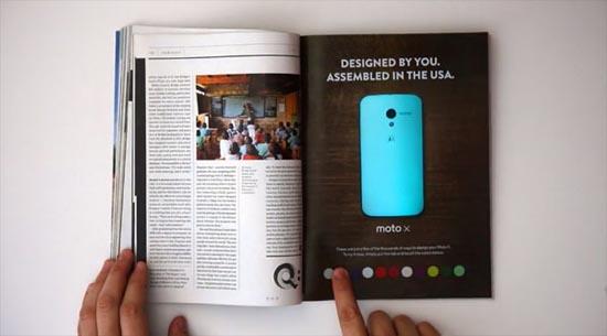 Advertentie veranderd van kleur