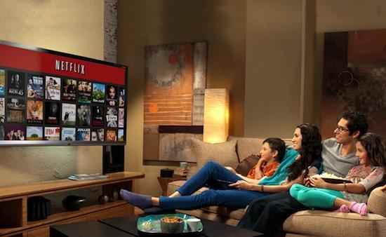 Kijk dit gezin eens lachen naar het Netflix-menu