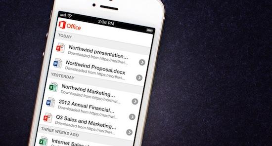 Microsoft Office 365-app voor de iPhone