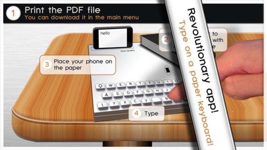 Paper Keyboard gaat het helemaal worden
