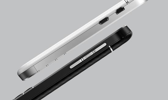 Zijkant van de Blackberry Q10
