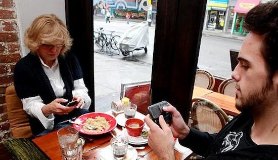 Restaurant geeft 50% korting als je je telefoon uitzet