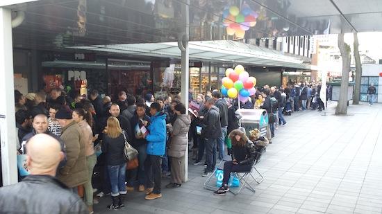 Apple-toestanden bij verkoopstart Samsung S4