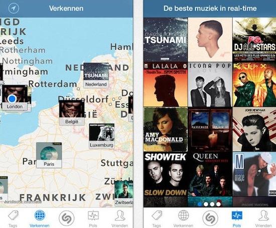 Shazam voor iOS 7