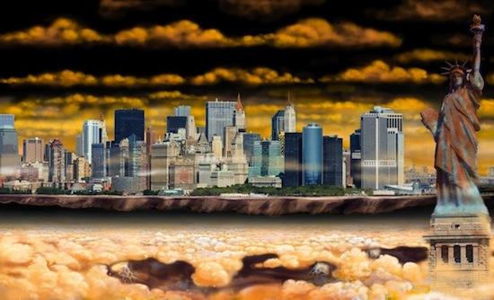 Bizar: de skyline van New York op andere planeten