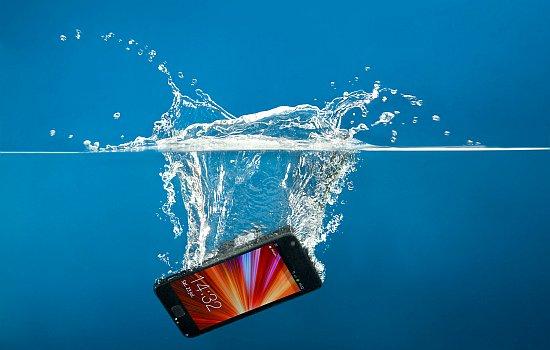 Smartphone onder water