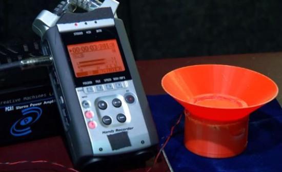 Functionerende audiospeaker 3D printen