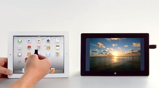 Microsoft faalt met de Surface, maar blijft iPads uitlachen