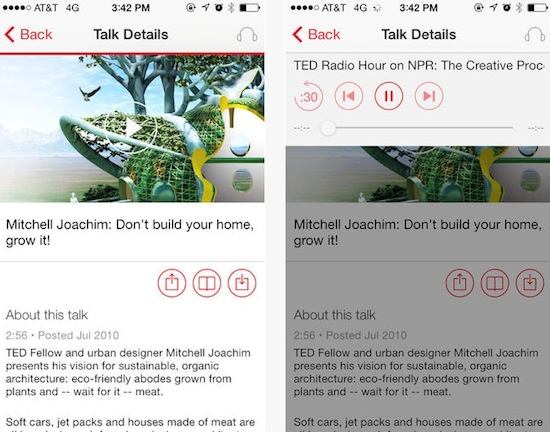 TED voor iOS 7