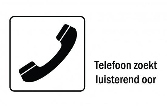 Telefoon zoekt luisterend oor