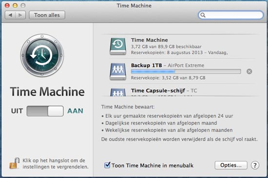 Een Time-Machine backup is altijd goed