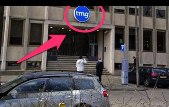 TMG logo op Hyves kantoor