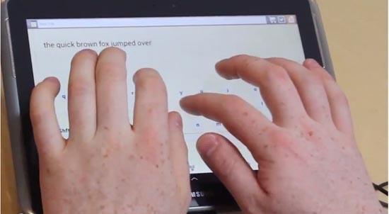 Touch-typen op een tablet