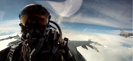 Video F16 Cockpit