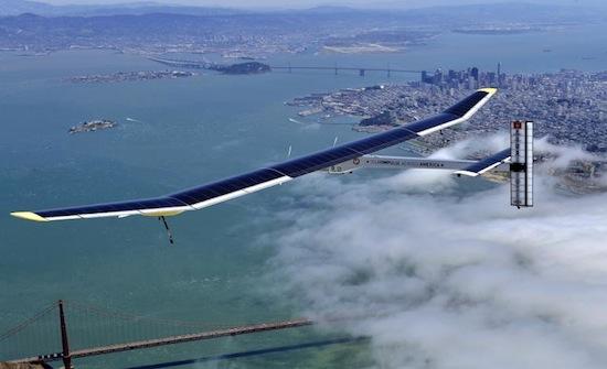Vliegtuig op zonne-energie doorkruist Amerika