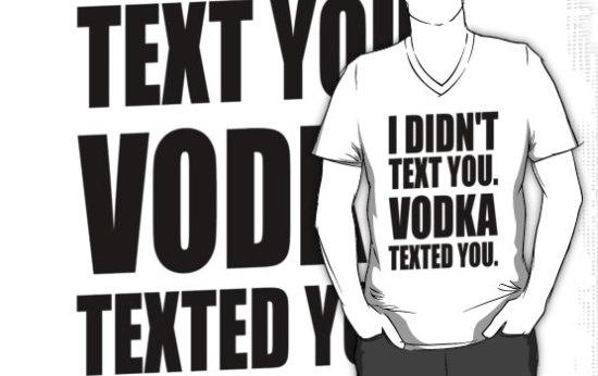 Tekstberichten versturen met vodka, het kan!